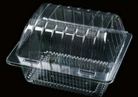 Wholesale 100X Clear Food Take Out Container Disposable Plastic Single Cupcake Boxes