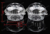 ECO Friendly hat box - 100X Individual With Hat Plastic Disposable Plastic Cake Container Cupcakes Packaging Box