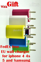 Wholesale EU Plug Genuine V A mAh USB Power Travel Adapter AC Wall Charger for iPhone Samsung HTC MOQ