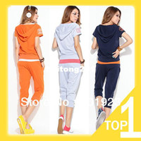 Women Cotton Polo 2013 free shipping hot sale short sleeve and pants casual woman sweat suit Y7216-A4015