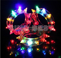 Wholesale Funny LED Light UP Flashing Spike amp Stud Bracelet Jewelry Great for Party Supplies Christams Gifts Toys for Children