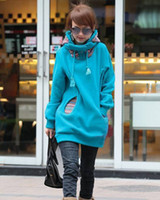 Wholesale Women Sweatershirts Long Sleeved Casual Tops Long Hoodies Women Sports Coat Slim Hooded Outwear For Women Clothing