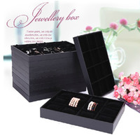 Wholesale 10 Style Black Velvet Wood Jewelry Display Tray Jewelry Box Ring Tray