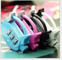 Wholesale Resettable Digit Combination cute pig min lock fashion small padlock lock luggage lock password lock colors A0087