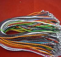 Wholesale Multicolor Leather Rope Chain Necklace Cord DIY Jewelry Woven Necklace SF2