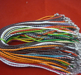Multicolor Leather Rope Chain Necklace Cord DIY Jewelry 100Pcs Lot Woven Necklace SF2