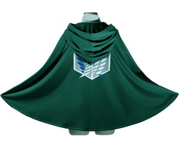 Wholesale New Japan Anime Costume Attack on Titan Shingeki no Kyojin Scouting Legion Top Cosplay Grade Cloak Cape