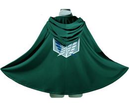 Wholesale New Japan Anime Costume Attack on Titan Shingeki no Kyojin Scouting Legion Top Cosplay Grade Cloak Cape