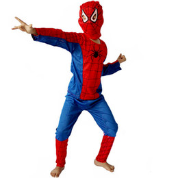 Wholesale Set of Spiderman classic Children Kids Outfit Costume Party Dress Child S Fancy Dress