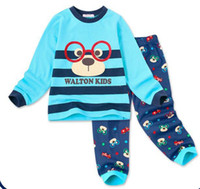 Wholesale Hot Sale New Children Baby Pajamas suit Cartoon frog eyes Xiong Xiaoqing underwear sets children tracksuit