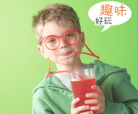 amazing items - 1000pcs Funny Glass Drinking straw Novelty items Amazing multi colors to choose glasses Frames for every party favor hot sale
