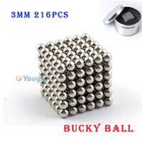 Wholesale 216 Diameter mm Silver The neodymium Toy Cubes Puzzle Cube Toy Sphere Magnet Magnetic Bucky Balls Buckyballs
