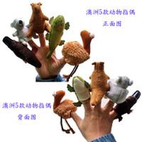 Stuffed australia platypus - 2016 new Baby Plush Toy Finger Puppets Australia koala kangaroo crocodile platypus set