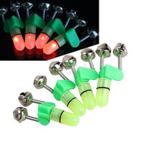 Wholesale Lowest Price LED Fishing Rod Bite Alarm Red Light Twin Bells Clip Alerter