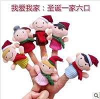 Cloth baby happiness - Christmas presents early childhood happiness a man hand puppet finger doll toys baby toys finger doll toy story gift different styles