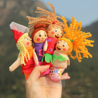 Wholesale Retail finger puppets toy mermaid series doll plush wooden doll a set of stories good baby helper