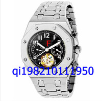Wholesale EMS free shippng Brand Mens New Luxury Silver Dial Hollow Automatic Mechanical Dive Sport Stainless Zone Folding band High Men s clock Watch