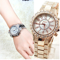 Wholesale Christmas gifts Luxury sparkling diamond women s watch trend rhinestone sheet bingbing lady Women gold watch