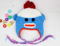 Unisex baby crochet beanie pattern free - Hot Sale New Monkey Crochet Hat Pattern Handmade Baby Monkey Beanie Crochet Knit Animal Baby Hat