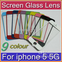 Cheap DHL Replacement AAA+ Front Glass Screen Lens Part for Apple iPhone 5 5G black White 10X SHA-G