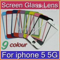Cheap DHL Replacement Front Glass Screen Lens Part for Apple iPhone 5 5G black White 10X SHA-G