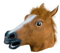 Wholesale Halloween horror personality horse head lifelike shape Halloween party rtfg