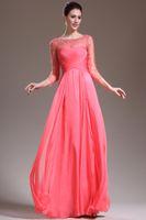 Wholesale 2014 Sheer Pleats A Line Scoop Evening Dresses Beaded Long Sleeves Floor length Sequin long sleeve evening dresses Dress Formal Dresses