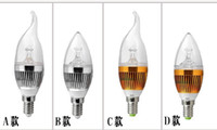 Wholesale High Power W Led Candle Bulb E14 E27 V LED Led Light Lamp Bulbs
