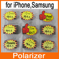 Wholesale Polarizer Polarized Light Film Diffuser for iPhone4 S Samsung S3 i9300 S4 i9500 S2 i9100 S i9000 Note i9220 Note2 N7100 Nexus i9250