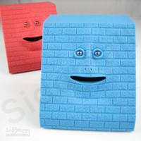 Silicone Rubber face bank money box - Face Bank Money Coin Saving Box Mouth Sensors Facebank childrens Christmas gift