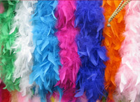 Wholesale Large Feather Boa quot g Girls Princess Tea Party Dress up Costume Accessory Multi Color Wedding Ceremony Boas