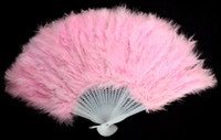 Wholesale Large Marabou White Feather Hand Fan for Costume Halloween Party Dance