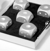 Wholesale Table games Round Corner Spot blank Aluminum Dice in Set Travel Case Deluxe Gift Souvenir