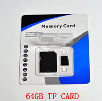 Tarjeta de memoria de la clase 10 64GB SD TF con el empaquetado de la ampolla del adaptador para los smartphones y las tabletas 1 envío del día envío libre para 5233, modo e73, n