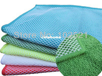 Wholesale 5 pack cmx30cm Microfiber Scourer Scouring Cleaning Dishcloths Mesh Dish Cloths Kitchen Stainless Steel Towels