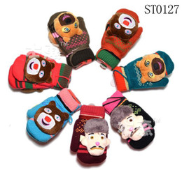 Wholesale ST0126 boys girls wool mittens children gloves kids winter warm accessories mix designs jlbgmy