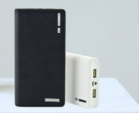 Wholesale Limited Wallet style With LED Power Bank mAh Portable External Battery Backup Pack Universal Dock Dual USB Cell Phone Charger
