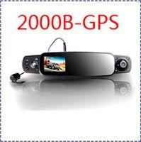 "1 channel 3.0 inch LCD,TFT HK ship 2013 Car DVR 3 Channels Camera Recorder DVR 2000B+3 Lens New Rear View Mirror Car Camera 3.0"" LCD+Night Vision G-SENSOR GPS!"