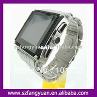 Wholesale by China Post Quad bands stainless waterproof Wrist watch phone W818 with camera