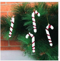 Christmas Tree Ornament plastic ornament - 2015 Real Limited Navidad Decoration Artificial Christmas Tree Decorations Ornaments Manually Little Cane Accessories Plastic Ornaments