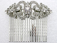 Wholesale jewelry gift bright Clear Rhinestone Bride Bridesmaid Wedding Accessories Prom Party Fashion Crystal Hair Comb L045 B