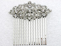 Wholesale jewelry gift Clear Rhinestone Bride Bridesmaid Wedding Accessories Prom Party sell well Fashion Crystal Hair Comb L058 B