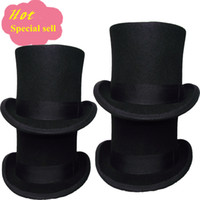 Wholesale hight quality black top hat with cm for men and ladies and boyes magician wear in party festival wedding meeting