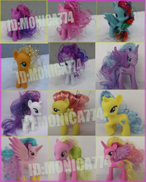 Wholesale Brand Fashion lovely mix cute babies doll toy My Little Pony plastic material Doll HasBro Mini Hair Pony Children s little Pony Horse