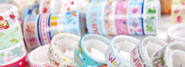 Wholesale Colorful tape adhesive tape Transparent Sticker Printed Tape Office Adhesive Tape Sticky printing washi tape cartoon