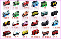Wholesale EMS Free Ship Mix styles Brand New Mini Train Bus Car intellgence baby toy Complete set of car wooden PVC toy train Movie Video Doll toys