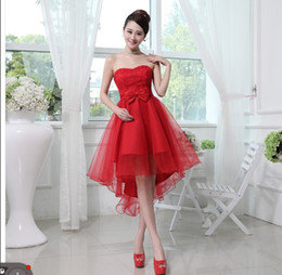 Wholesale 2013 new short section of the bride dress wedding dress wedding bridesmaid dress wedding toast clothing evening dress skirt