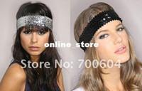Hair Rubber Bands sequin elastic - Fashion Elastic Sequins Hair Band Women s Paillette Headband Hair Accessories original factory supply A093