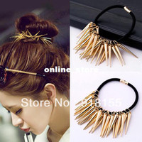 Wholesale 2013 Hand made Fashion Punk hair accessories metal quality Punk headband hair accessory two colors A095