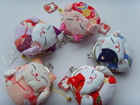 Wholesale NEW cute cats style Portable Wallet Cosmetic Bag coin Purse small Pocket
